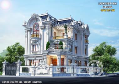 Thiết kế biệt thự 3 tầng tân cổ điển đẹp tại Ninh Bình – LV 31006