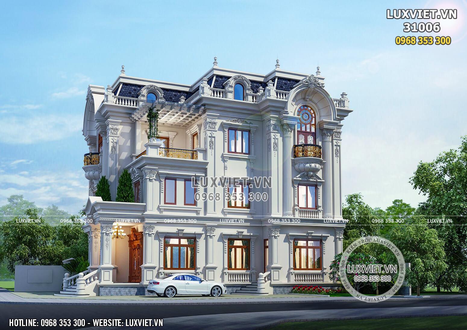 Một góc view đẹp mẫu thiết kế biệt thự 3 tầng tân cổ điển tại Ninh Bình.