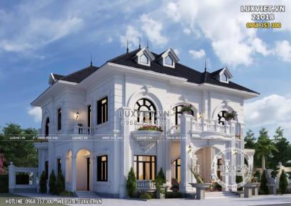 Mẫu biệt thự 2 tầng tân cổ điển đẹp tại Hưng Yên - LV 21018
