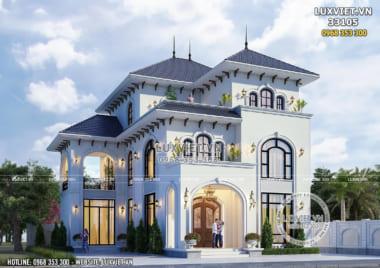 Ấn tượng với mẫu biệt thự 3 tầng mái Thái – LV 33105