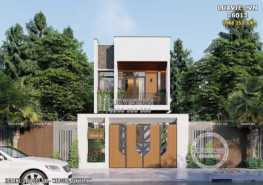 Mẫu nhà 2 tầng đơn giản mặt tiền 4m đẹp – LV 26012