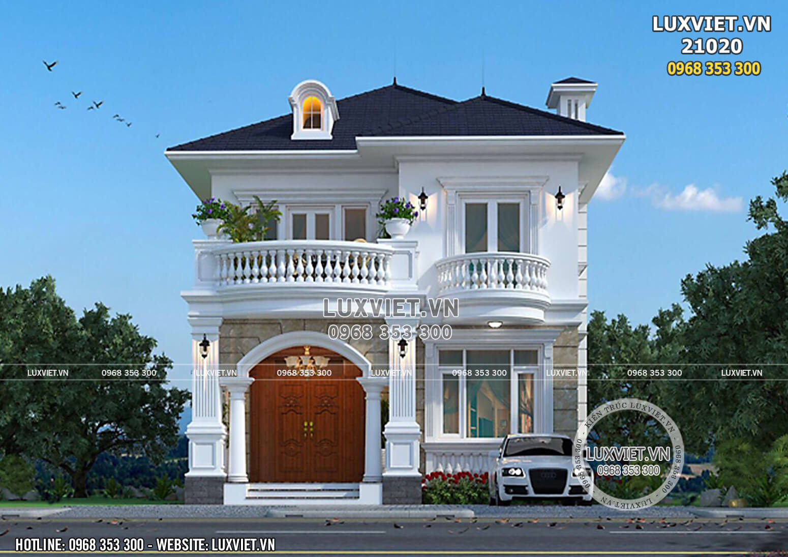 Hình ảnh: Mặt tiền của căn nhà 2 tầng mặt tiền 9m - LV 21020