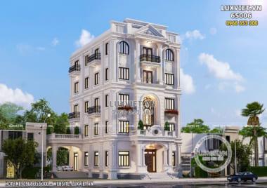 Mẫu nhà phố 5 tầng tân cổ điển mặt tiền 10m – LV 65006