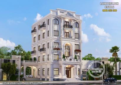Mẫu nhà phố 5 tầng tân cổ điển mặt tiền 10m - LV 65006