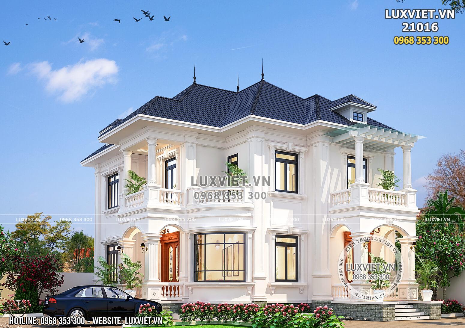 Vẻ đẹp xa hoa, lộng lẫy và tinh tế của mẫu thiết kế nhà 2 tầng
