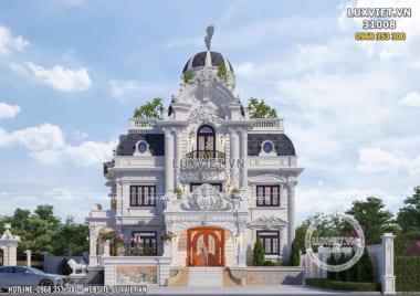 Mẫu thiết kế biệt thự lâu đài 3 tầng đẹp tại Ninh Bình – LV 31008