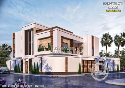 Mẫu thiết kế biệt thự villa 3 tầng hiện đại đẹp - LV 38505