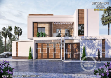 Mẫu thiết kế biệt thự villa 3 tầng hiện đại đẹp – LV 39611