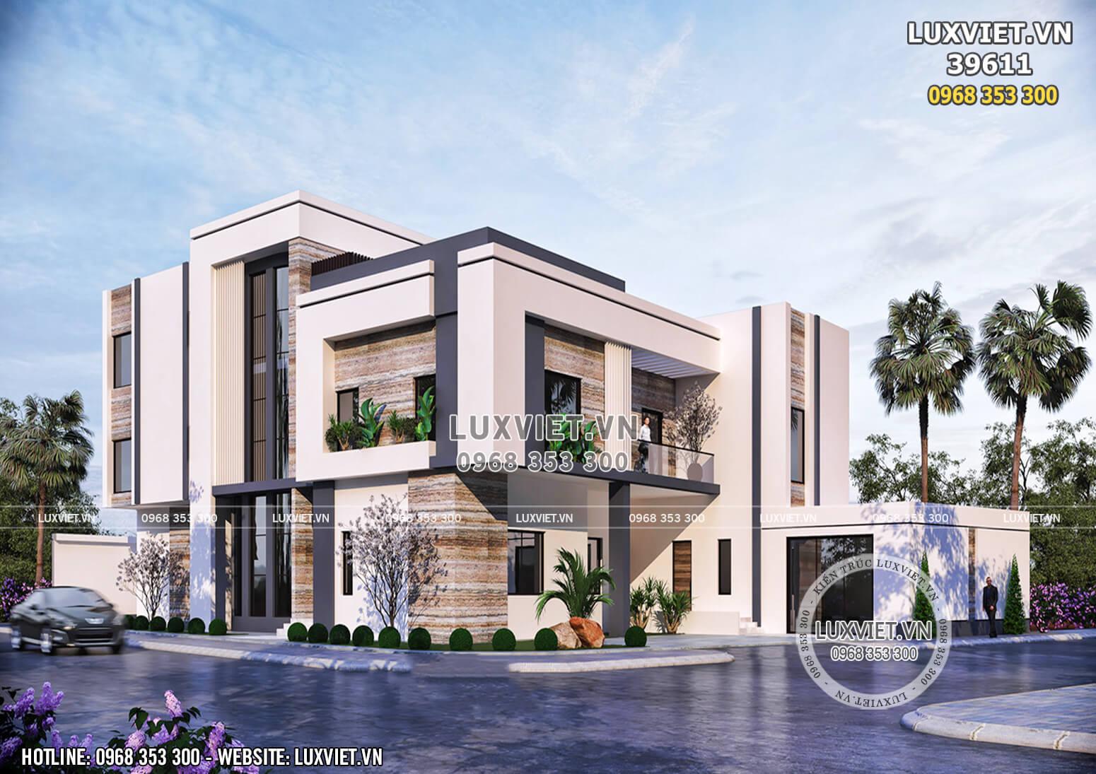 Một góc view đẹp mẫu thiết kế villa 3 tầng hiện đại đẹp