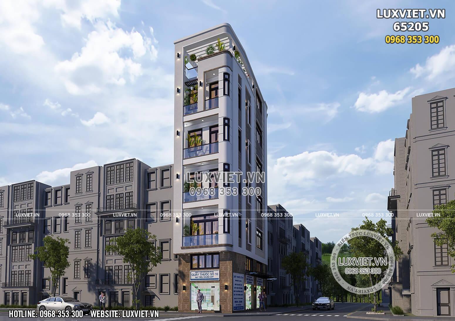 Một góc view đẹp của mẫu thiết kế nhà phố hiện đại kết hợp kinh doanh 2 mặt tiền