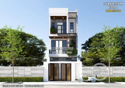 Mặt tiền nhà phố hiện đại 3 tầng đơn giản