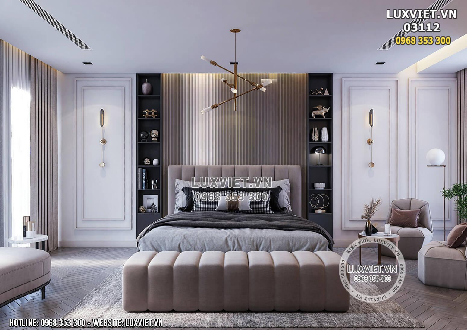Hình ảnh: Không gian nội thất phòng ngủ Master đẹp dành cho căn chung cư - 03112