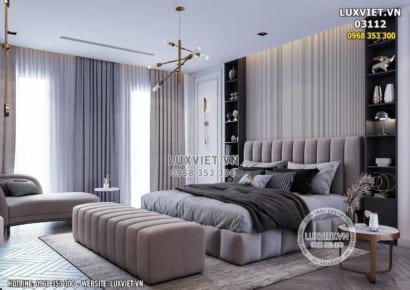 Hình ảnh: Kiến trúc hiện đại được sử dụng cho không gian phòng ngủ Master của căn chung cư - 03112