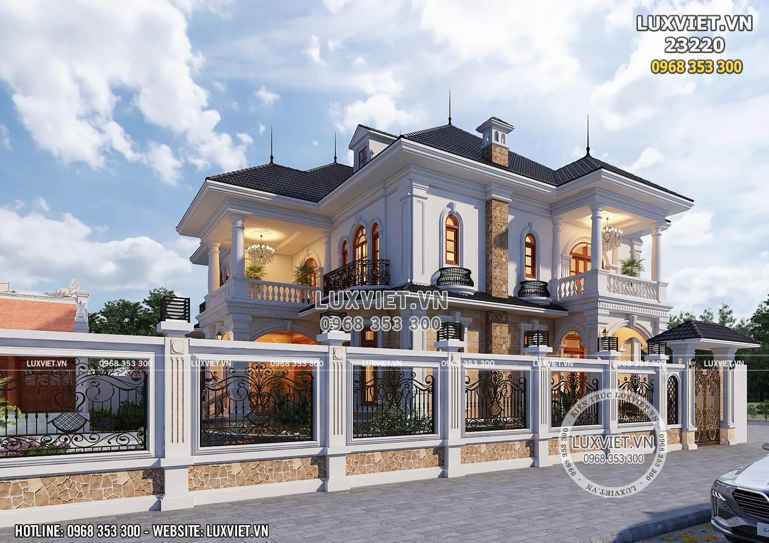 Mẫu thiết kế biệt thự 2 tầng mái Thái đẹp - LV 23220