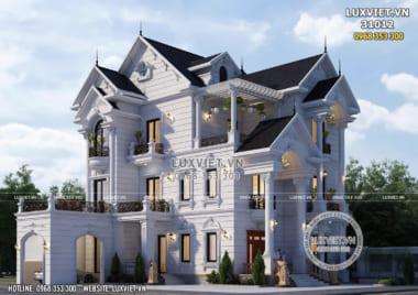 Thiết kế biệt thự 3 tầng mái thái đẹp tại Nam Định – LV 31012