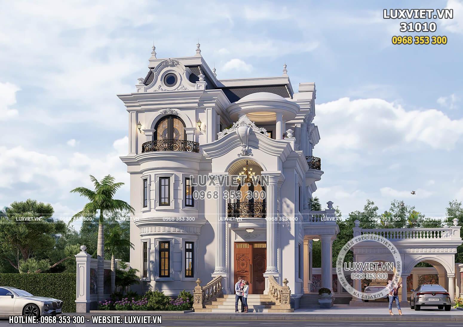 Công trình nhà đẹp kiến trúc tân cổ điển đẹp tại Thái Nguyên - LV 31010