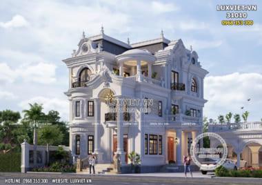 Thiết kế biệt thự 3 tầng tân cổ điển đẹp tại Thái Nguyên – LV 31010