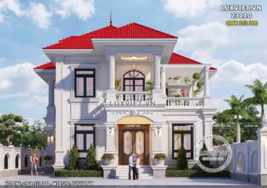 Sức hút từ thiết kế biệt thự đẹp 2 tầng 150m2 tại Bắc Ninh – LV 23110