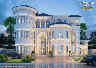 Thiết kế biệt thự tân cổ điển đẹp 3 tầng tại Đà Lạt – LV 39502