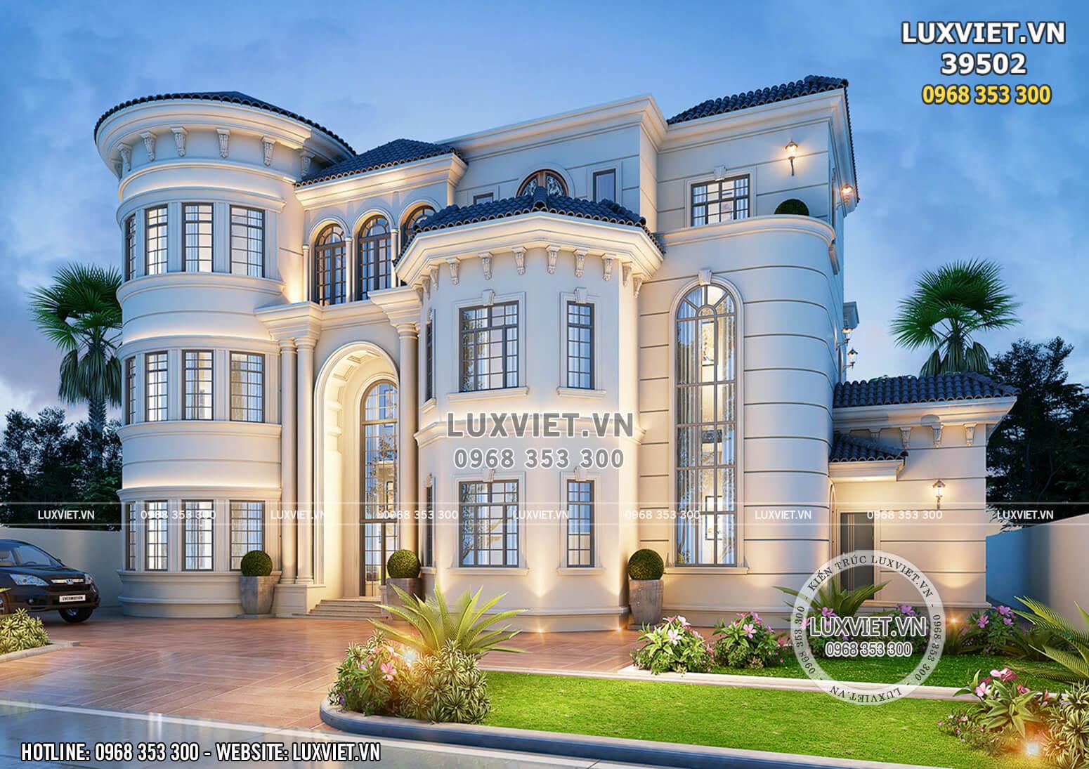 Thiết kế biệt thự tân cổ điển đẹp 3 tầng tại Đà Lạt - LV 39502