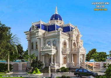 Thiết kế dinh thự lâu đài 3 tầng tân cổ điển đẹp – LV 36120