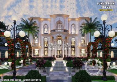 Mẫu dinh thự lâu đài 3 tầng tân cổ điển đẹp đẳng cấp quốc tế – LV 48102