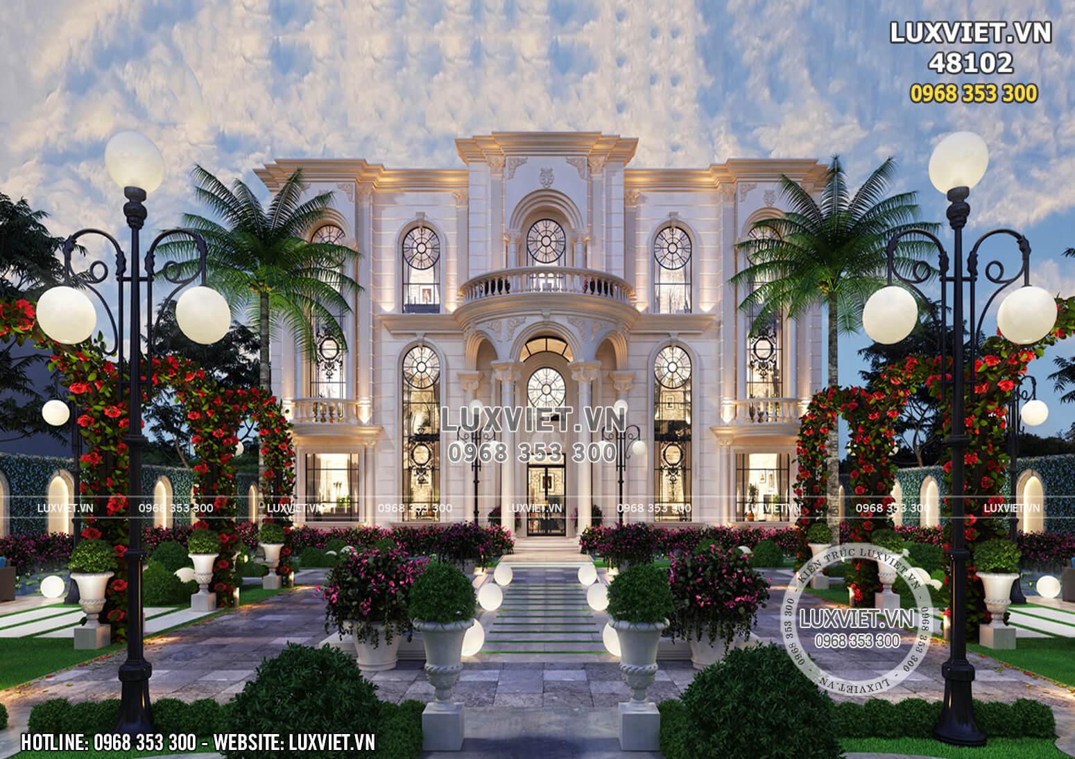 Thiết kế dinh thự lâu đài 3 tầng tân cổ điển đẹp đẳng cấp quốc tế - LV 48102