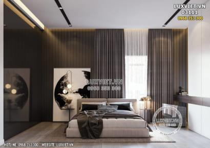 Hình ảnh: Tổng thể không gian phòng ngủ Master đẹp và sang trọng - LV 03111