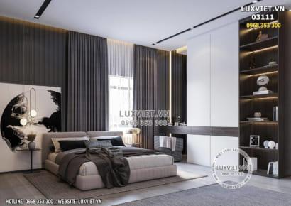 Hình ảnh: Không gian nội thất phòng ngủ Master chung cư - LV03111