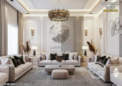Hình ảnh: Toàn cảnh phòng khách tân cổ điển cho penhouse - LV 01032