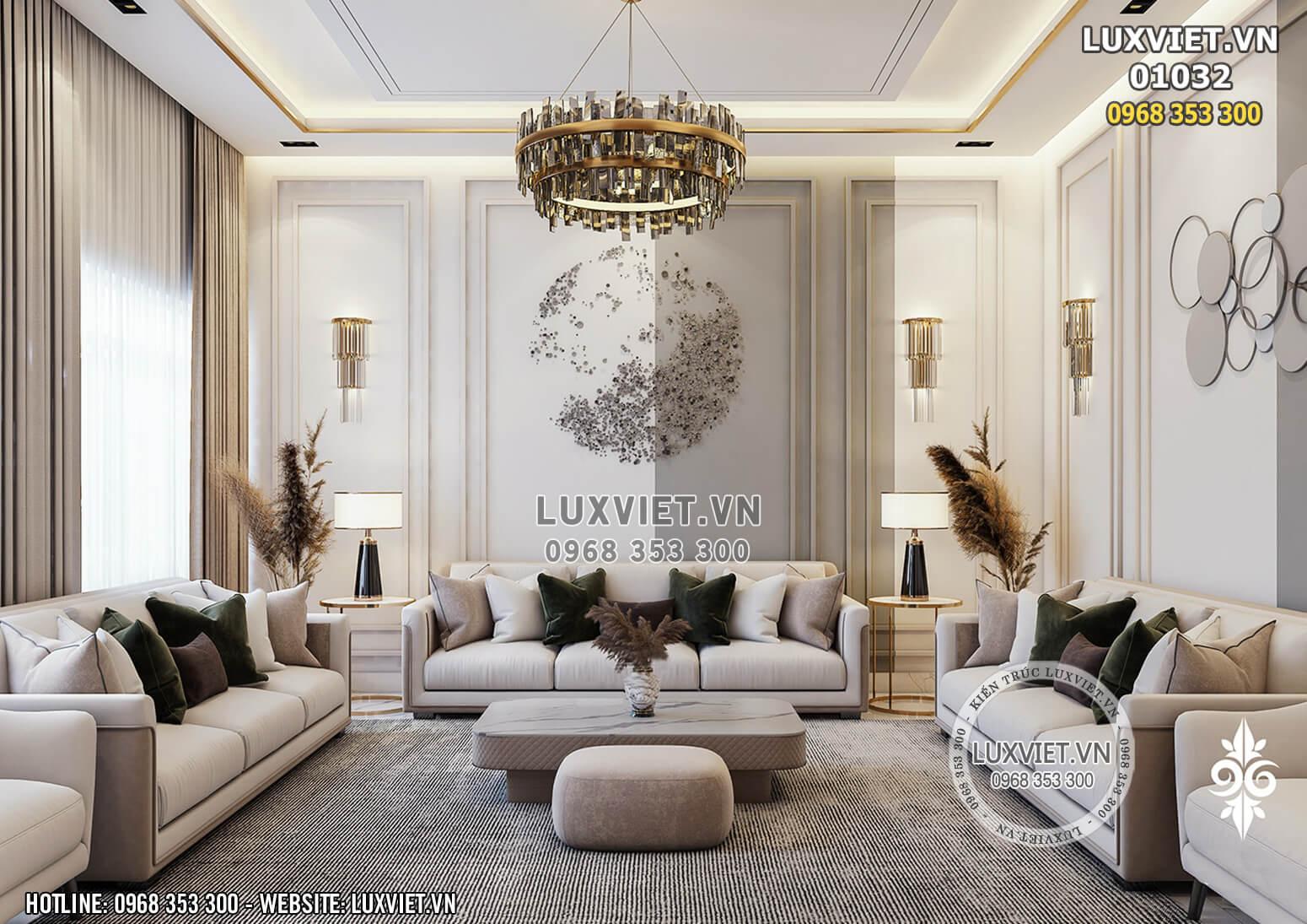 Hình ảnh: Toàn cảnh phòng khách tân cổ điển cho penthouse - LV 01032