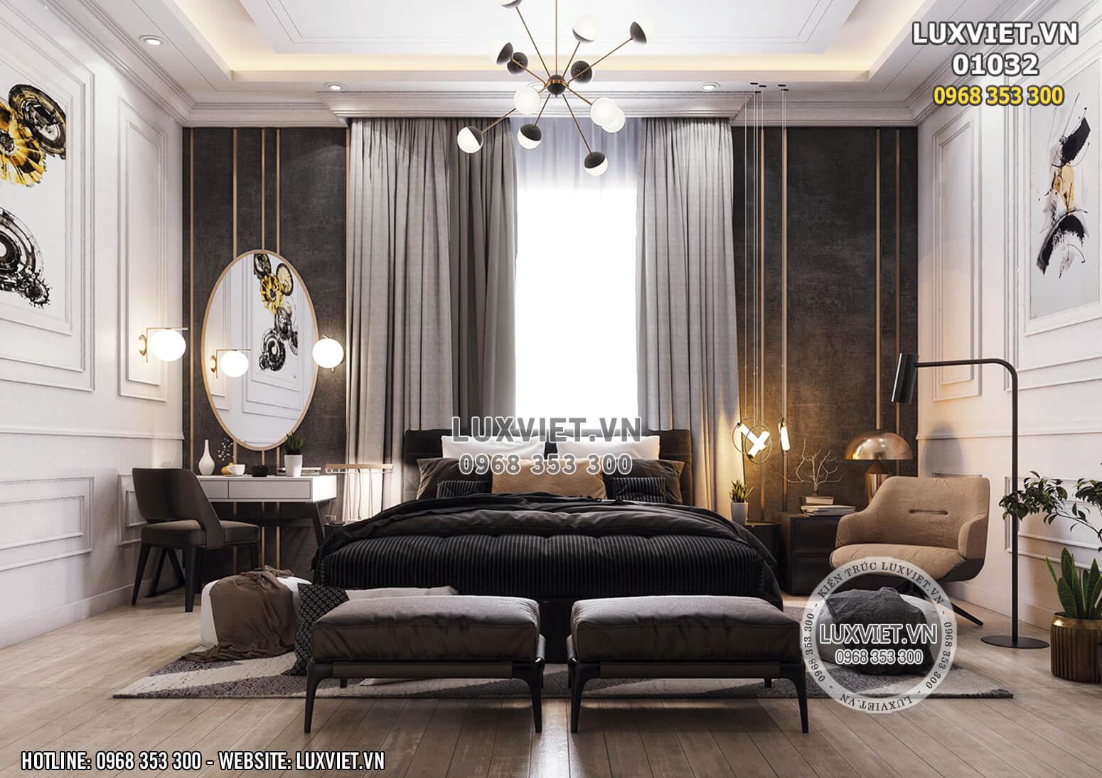 Hình ảnh: Phòng ngủ luxury chính diện - LV 01032