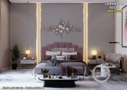 Hình ảnh: Tổng thể kiến trúc không gian nội thất phòng ngủ - LV 03110