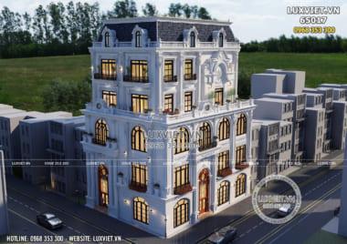 Thiết kế tòa nhà văn phòng kết hợp kinh doanh 5 tầng – LV 65017