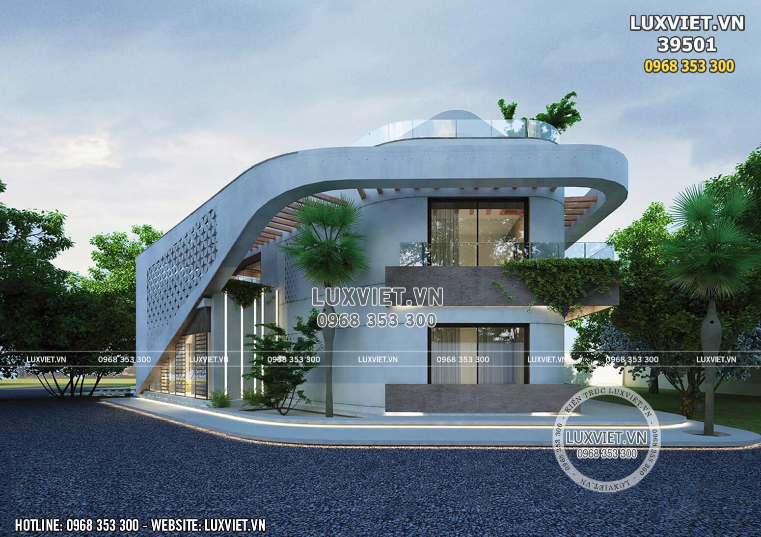 Thiết kế villa hiện đại nghỉ dưỡng trên đồi tại Hòa Bình - LV 39501