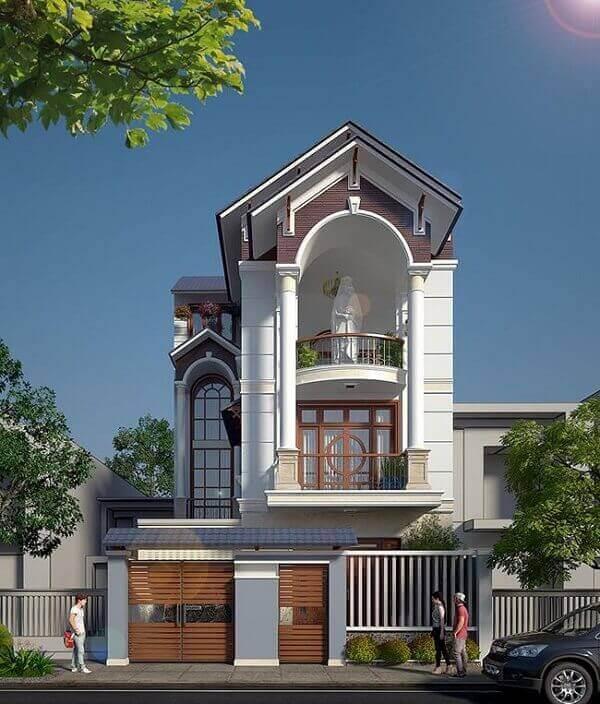 Kiến trúc thiết kế nhà ống mái Thái 2