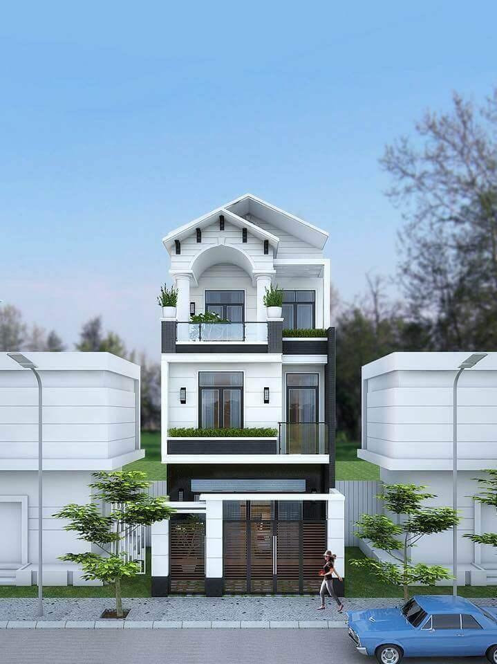 Kiến trúc thiết kế nhà ống mái Thái