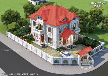 Ngất ngây với mẫu biệt thự 2 tầng tân cổ điển đẹp – LV 23101