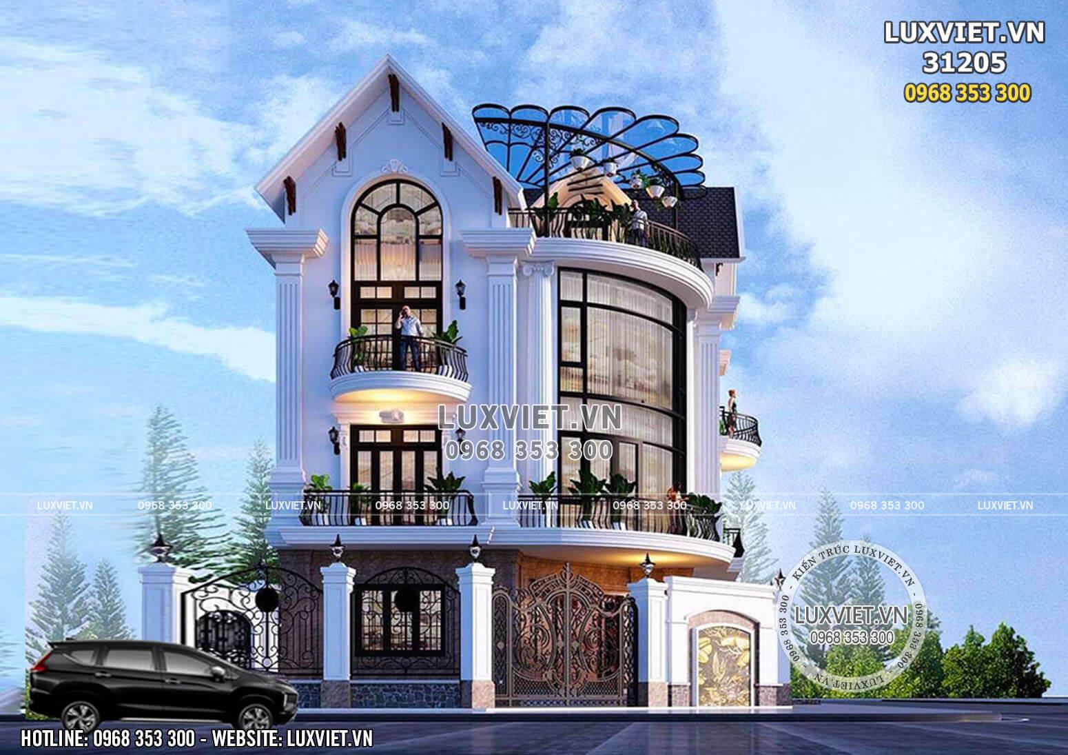 Biệt thự 3 tầng mái Thái tân cổ điển sang trọng - LV 31205