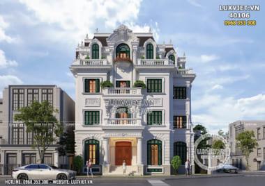 Biệt thự lâu đài kiến trúc Pháp cổ đẹp 4 tầng tại Hà Nội – LV 40106