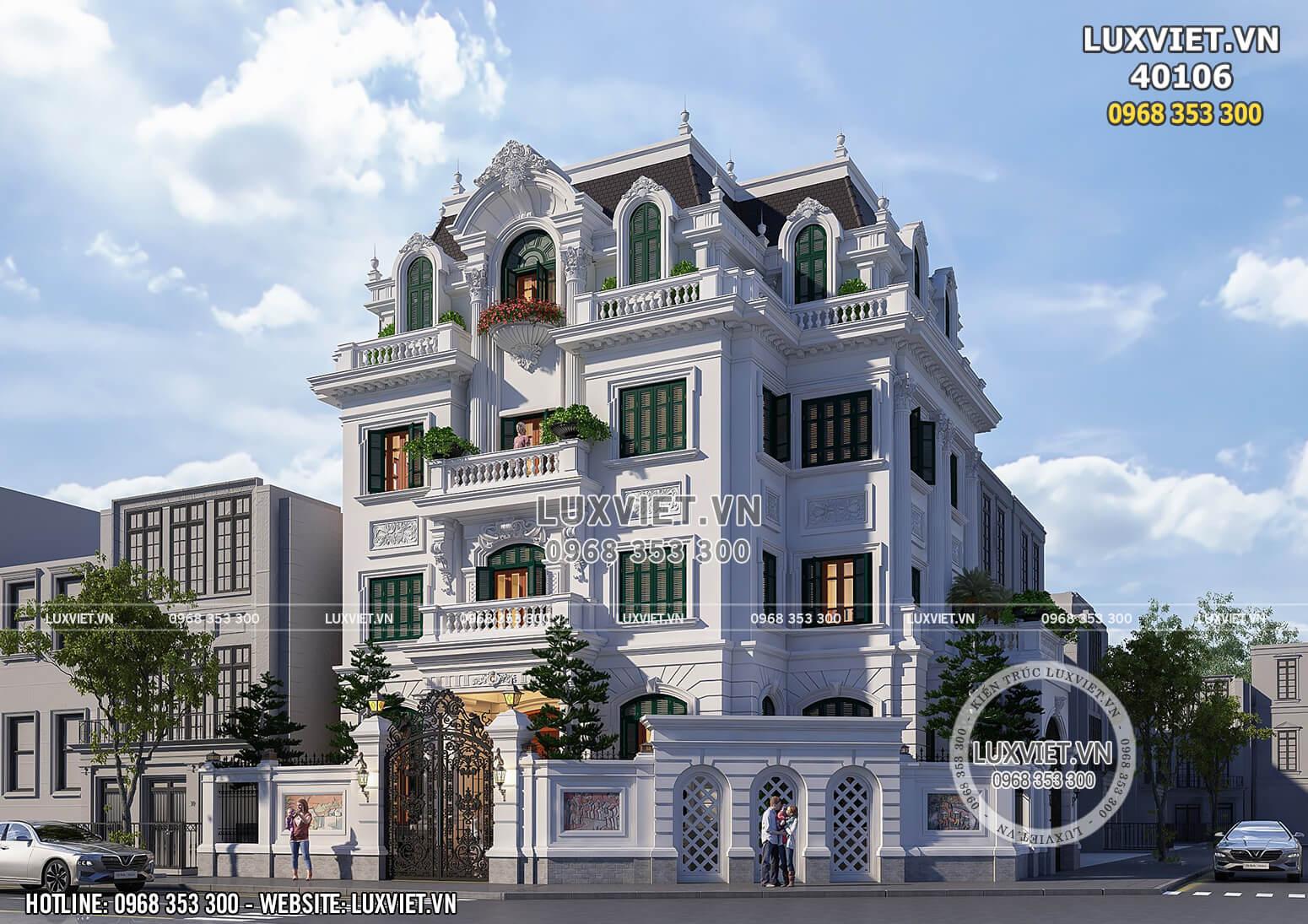 Một góc view đẹp 2 mặt tiền mẫu thiết kế dinh thự đồ sộ, xa hoa bậc nhất tại Hà Nội