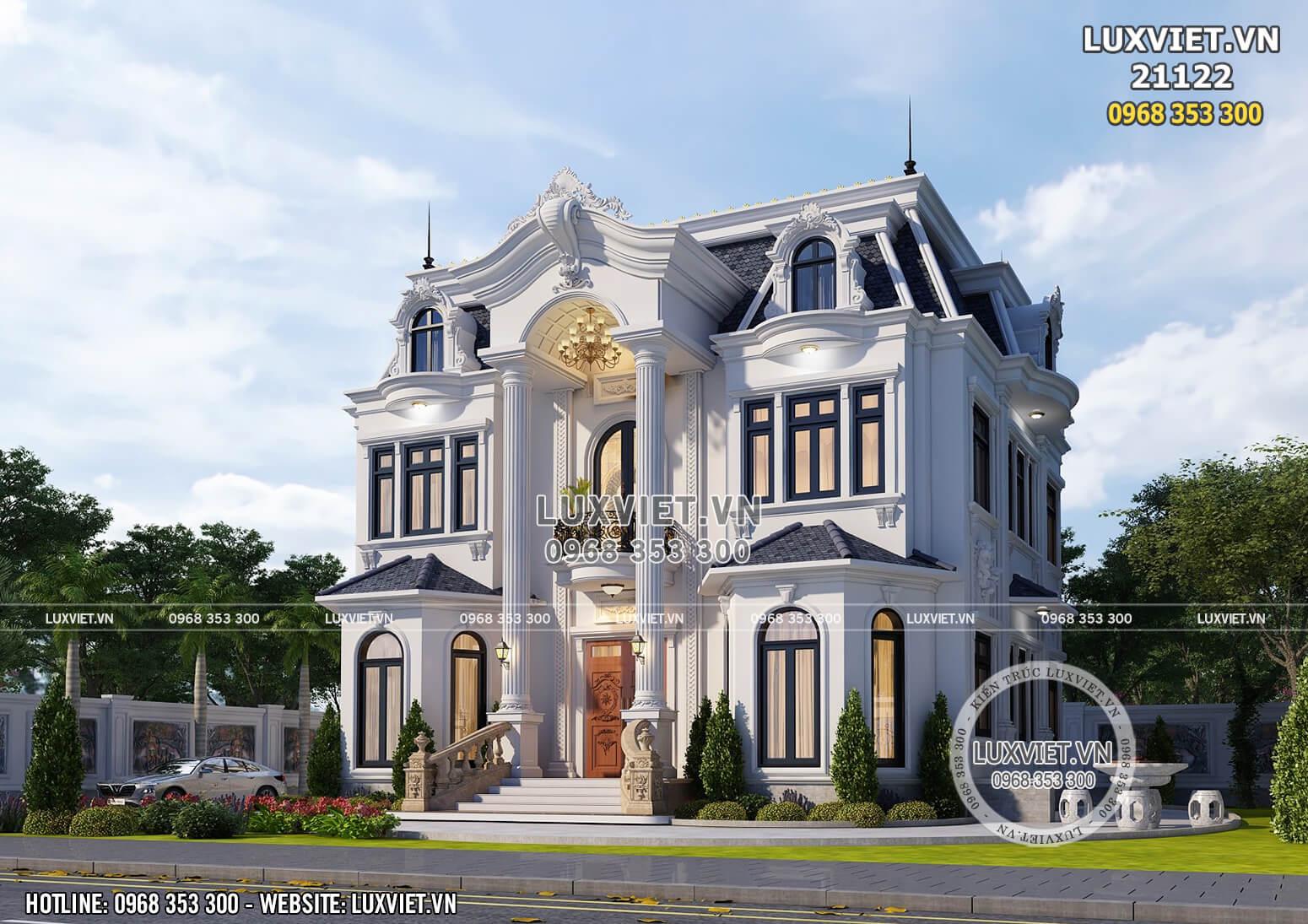 Hình ảnh: Mẫu nhà biệt thự 2 tầng tân cổ điển - LV 21122