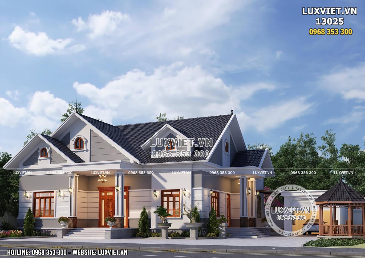 Hình ảnh: Khu tiểu cảnh của mẫu nhà mái Thái 1 tầng đẹp - LV 13025