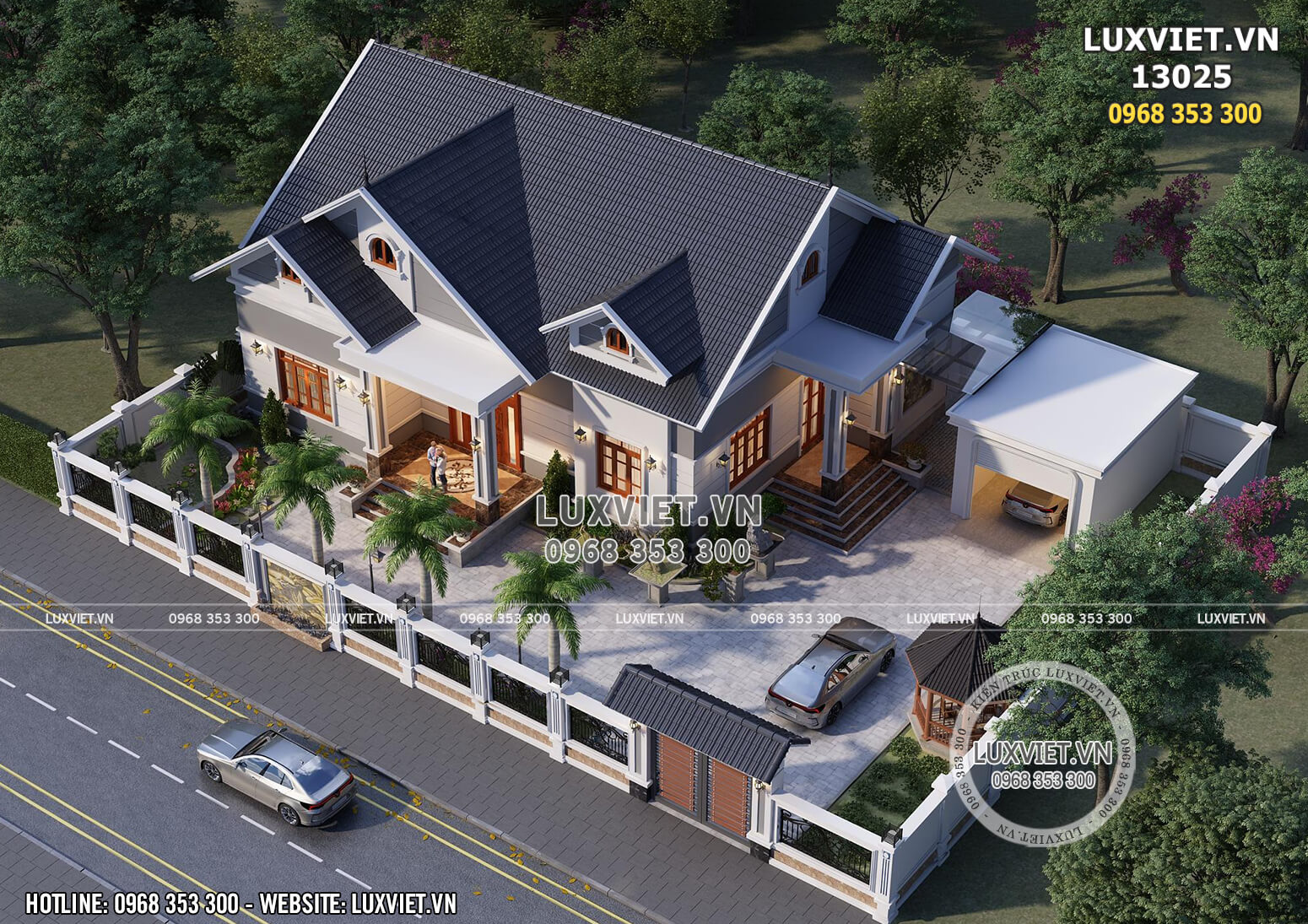 Hình ảnh: Không gian sân vườn của mẫu nhà đẹp - LV 13025