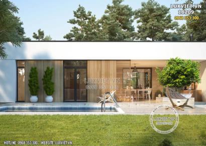 Hình ảnh: Không gian ngoại thất của mẫu nhà 1 tầng hiện đại - LV 18209