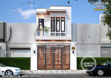 Mẫu nhà 2 tầng đẹp đơn giản 60m2 mặt tiền 4,5m tại Hà Nam – LV 25012