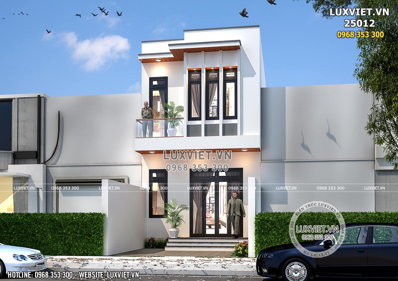 Mẫu nhà 2 tầng đẹp đơn giản 60m2 mặt tiền 4,5m tại Hà Nam - LV 25012