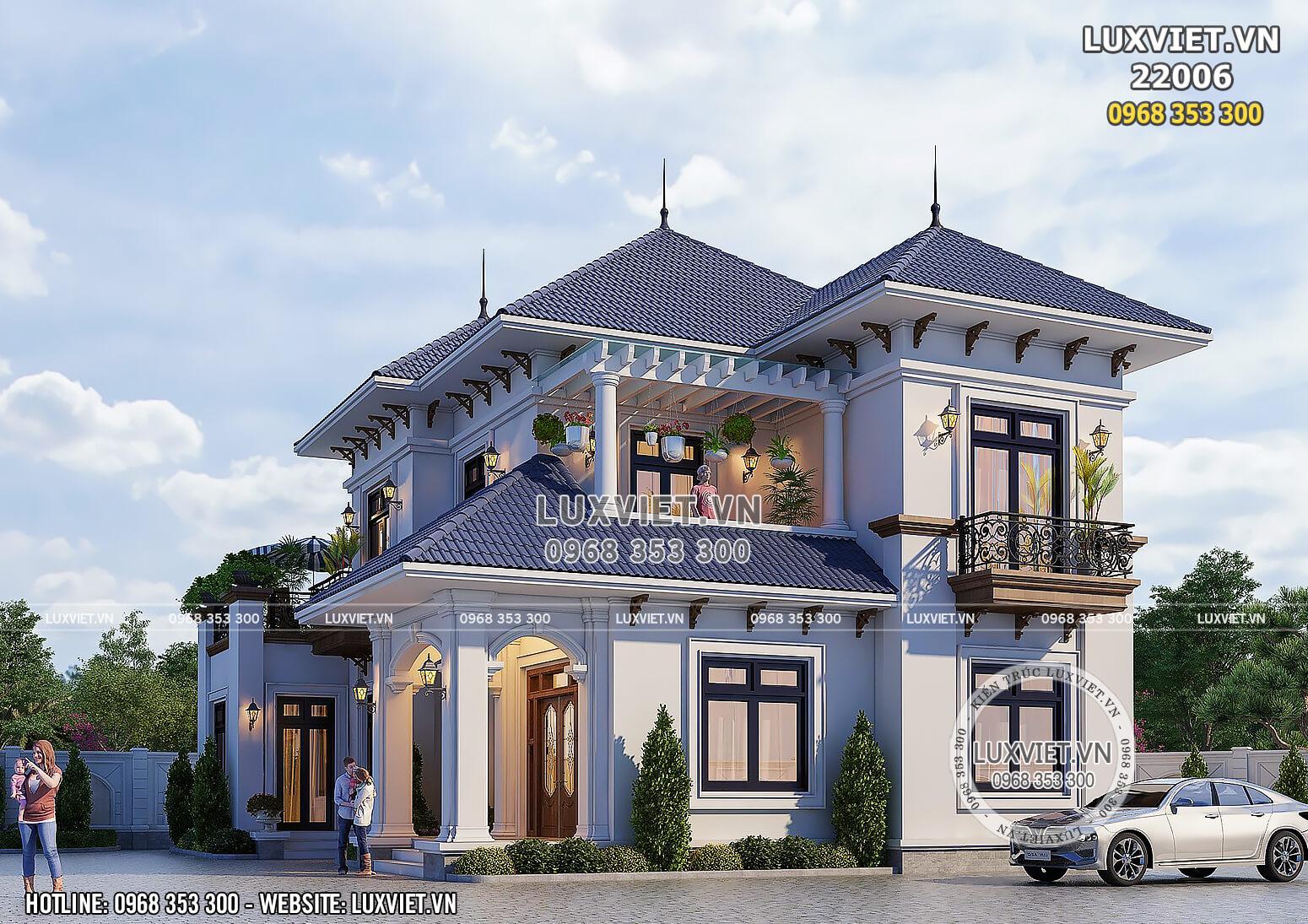 Toàn cảnh không gian ngoại thất đẹp mẫu thiết kế tân cổ điển đẹp