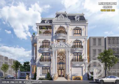 Thiết kế biệt thự 4 tầng tân cổ điển đẹp tại Hà Nội – Mã số: LV 41200