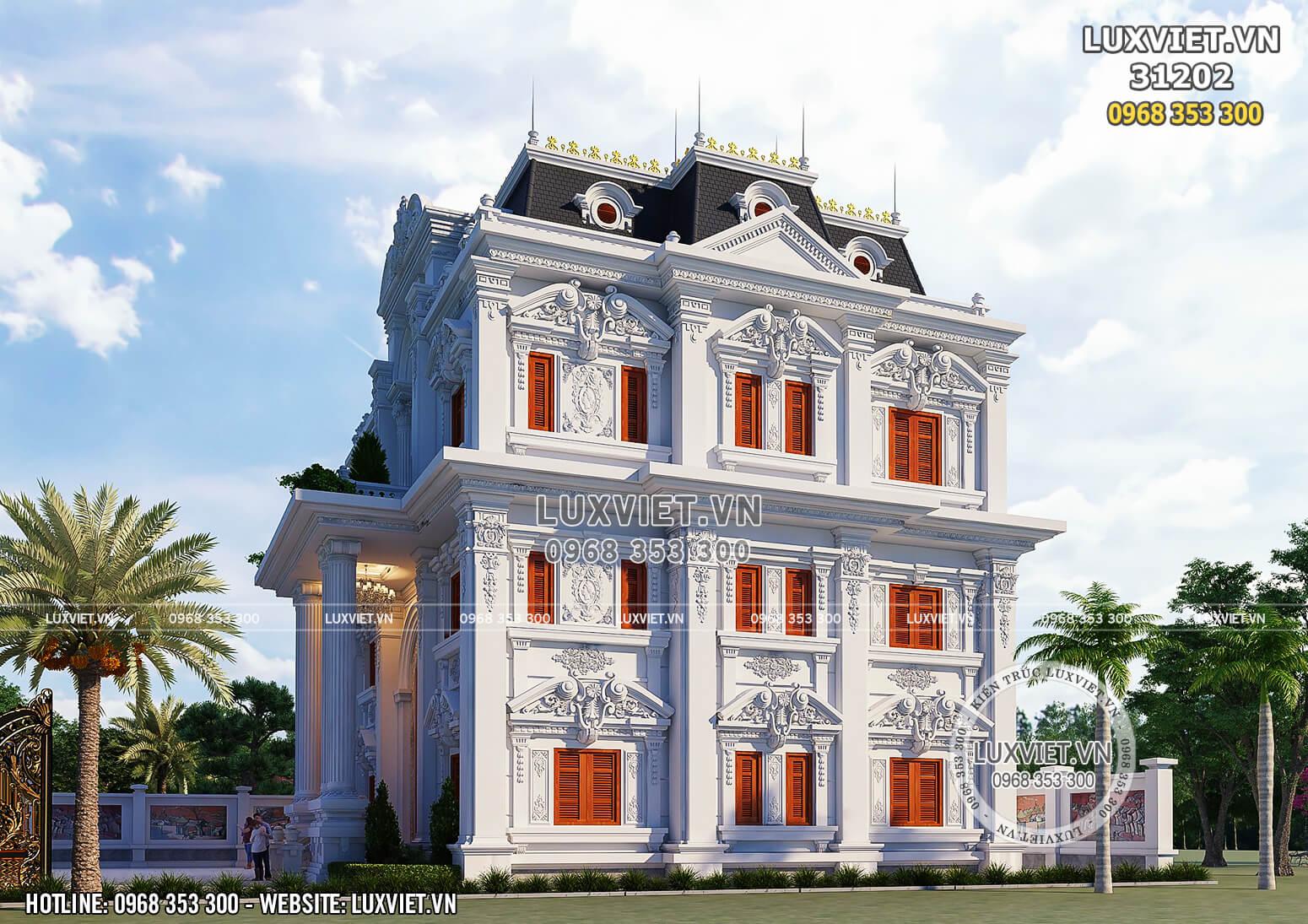 Hình ảnh: Mẫu biệt thự tân cổ điển đẹp - LV 31202